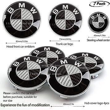 Amazon Com 7pcs Bmw Black And White Carbon Fiber Emblem Bmw Wheel Center Caps Hub Capsx4 Bmw Emblem Logo Replacement For Hood Trunk Bmw Steering Wheel Emblem Decal Automotive