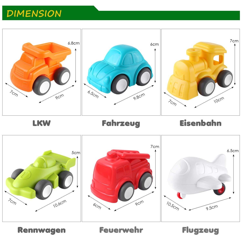 PEDY Mini Coches Coches Camiónes Vehículos de Juguete, Set de Pulse y Go Fricción Vehículos Establecidos para Niños y Ñiñas (6 PCS): Amazon.es: Juguetes y ...