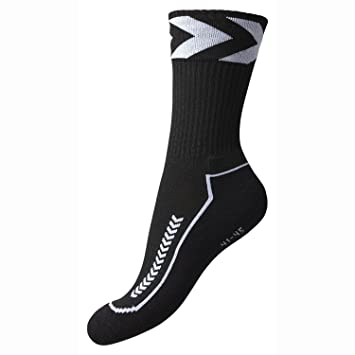 Hummel Chevron Indoor Low - Calcetines negro blanco/negro Talla:12 (41-