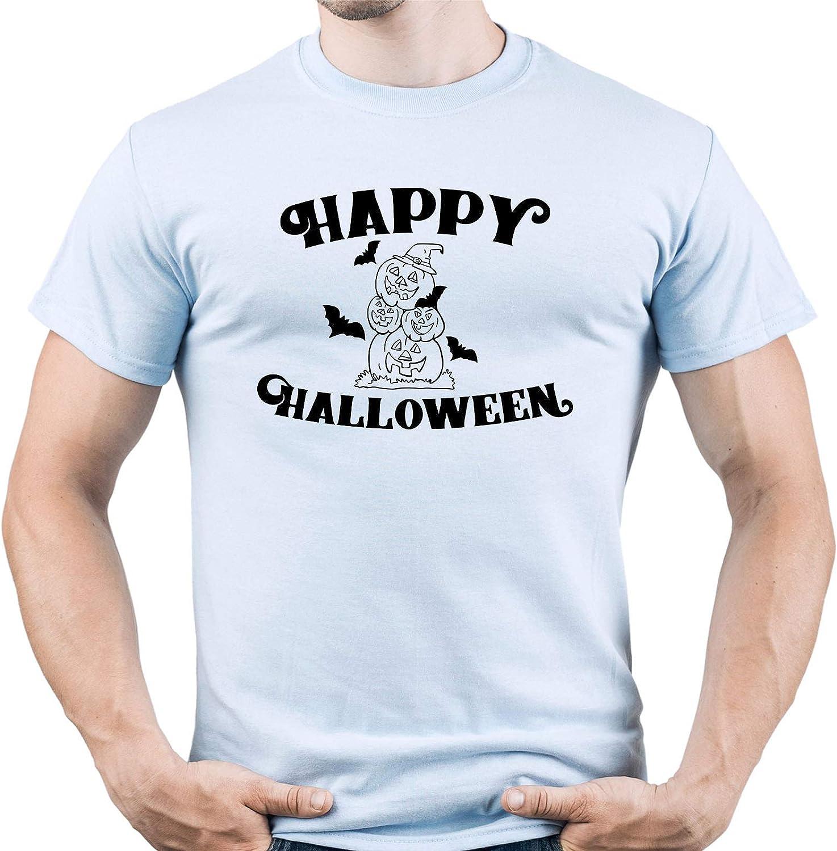 EUGINE DREAM Happy Halloween Hocus Pocus Camiseta para Hombre Azul Claro XXL: Amazon.es: Ropa y accesorios