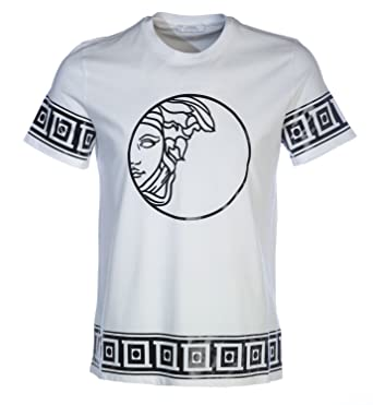 aae86c44 Versace Collection Round Medusa T Shirt in White: Amazon.co.uk: Clothing