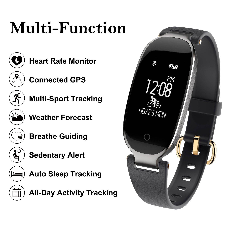 Pulsera Monitor de Actividad Pulsómetro y Podómetro Para Mujeres ...
