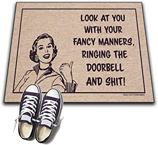 product image for HIGH COTTON Welcome Doormat - Look at You with You Fancy Manners