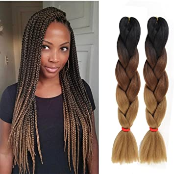 6 Packs Eunice Hair Jumbo Flechten Hair Extensions Colorful