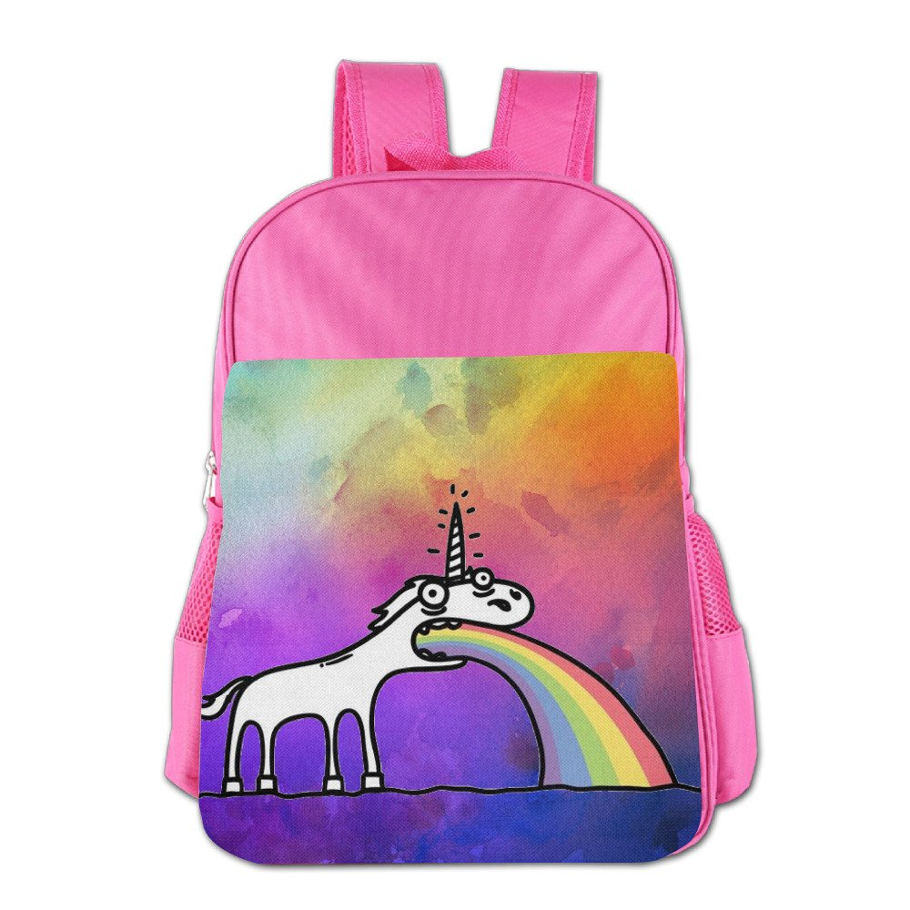 Amazon.com: Rainbow Unicorn Kids Schoolbag School Bag School Backpack For 4-15 Years Old Pink: Computers & Accessories