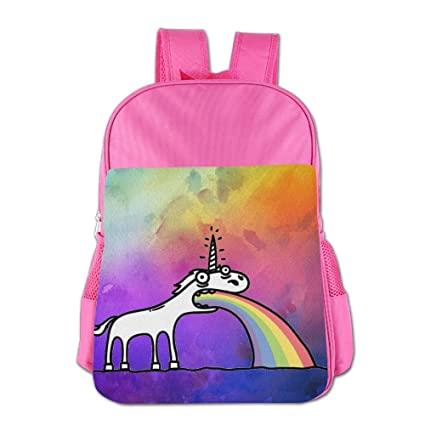 Rainbow Unicorn Kids Schoolbag School Bag School Backpack For 4-15 Years Old Pink