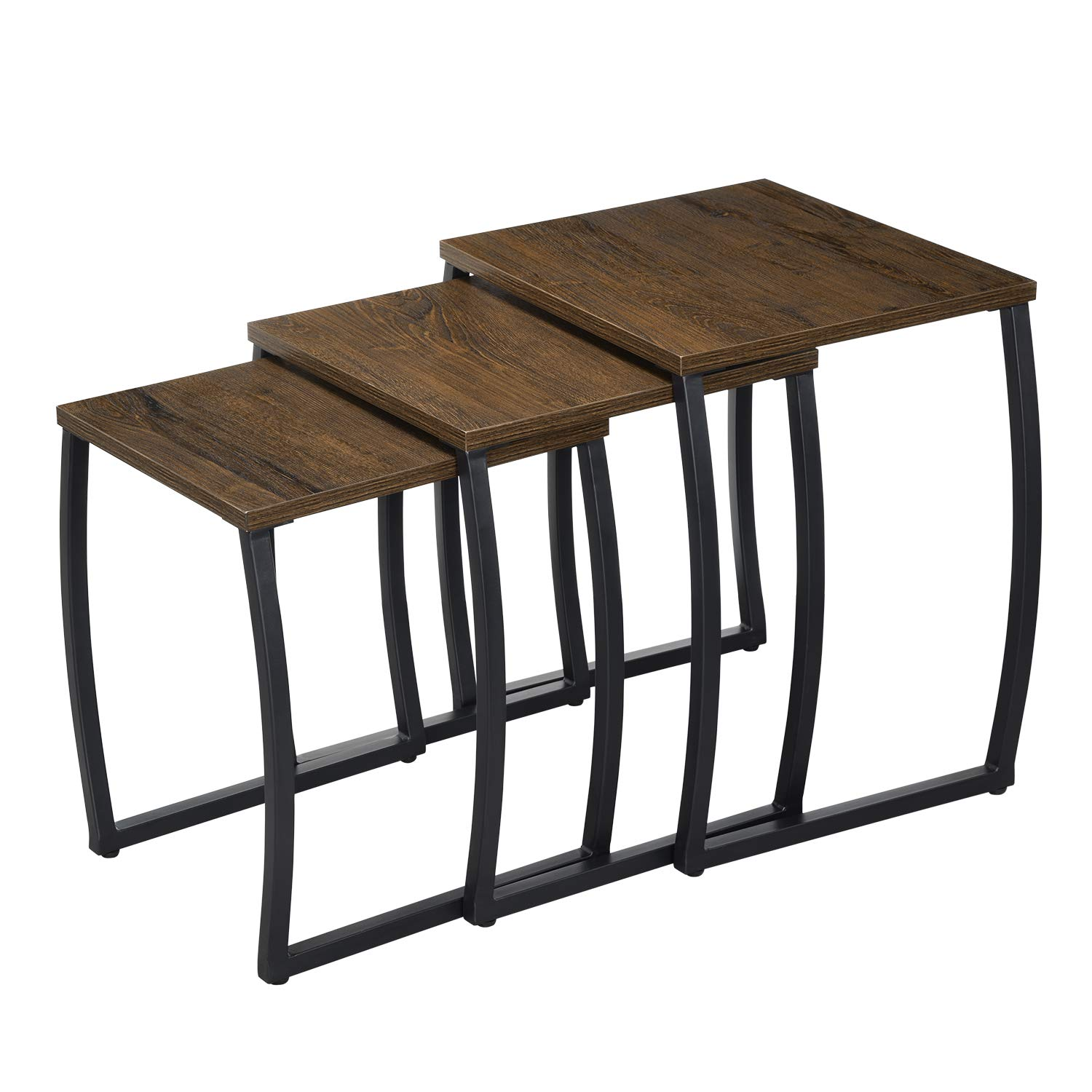 Nesting Tables, Vintage Side End Tables Living Room, Coffee Snack Table Set of 3 by SRIWATANA