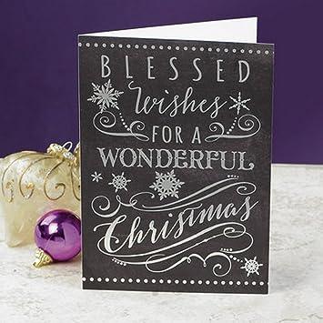 Blessed Wishes Christmas Cards Amazon De Burobedarf Schreibwaren