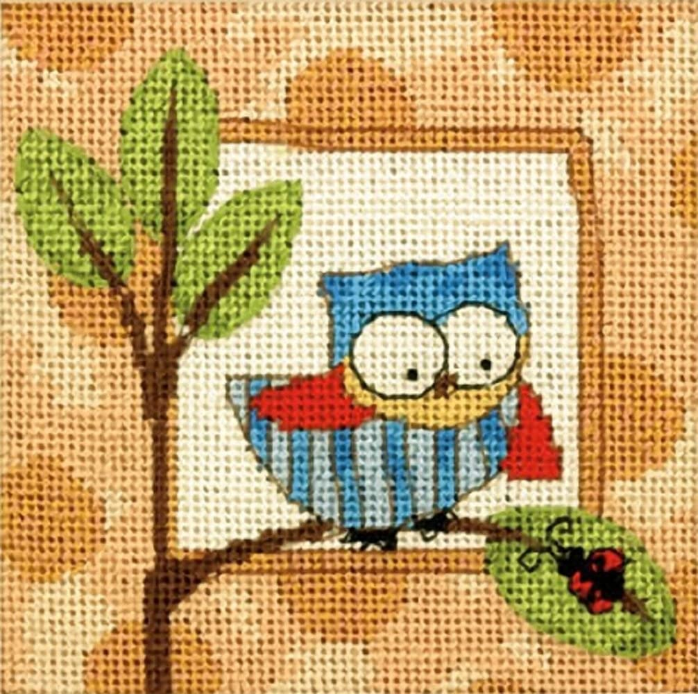"Dimensions Mini Needlepoint Kit 5/""X5/""-Sunflower /& Ladybug Stitched In Thread"