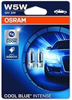 OSRAM COOL BLUE INTENSE W5W lampe halogène, éclairage de plaque, feu de  position, 54bba53c70e4