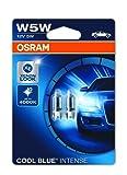 OSRAM 2825HCBI-02B COOL BLUE INTENSE W5W Halogen Kennzeichen-Positionslicht, 12V PKW, Doppelblister (2 Stück)