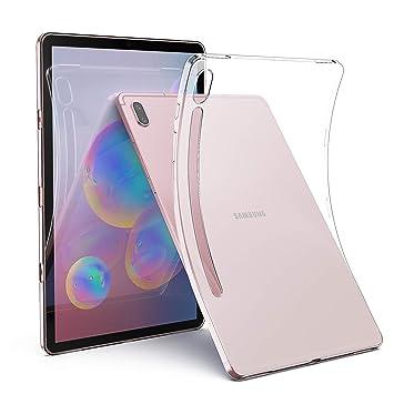 Dotuo Funda para Samsung Galaxy Tab S6 2019, Ultra Delgado Transparente Suave TPU Silicona Carcasa Trasera Protector Case para Samsung Galaxy Tab S6 ...