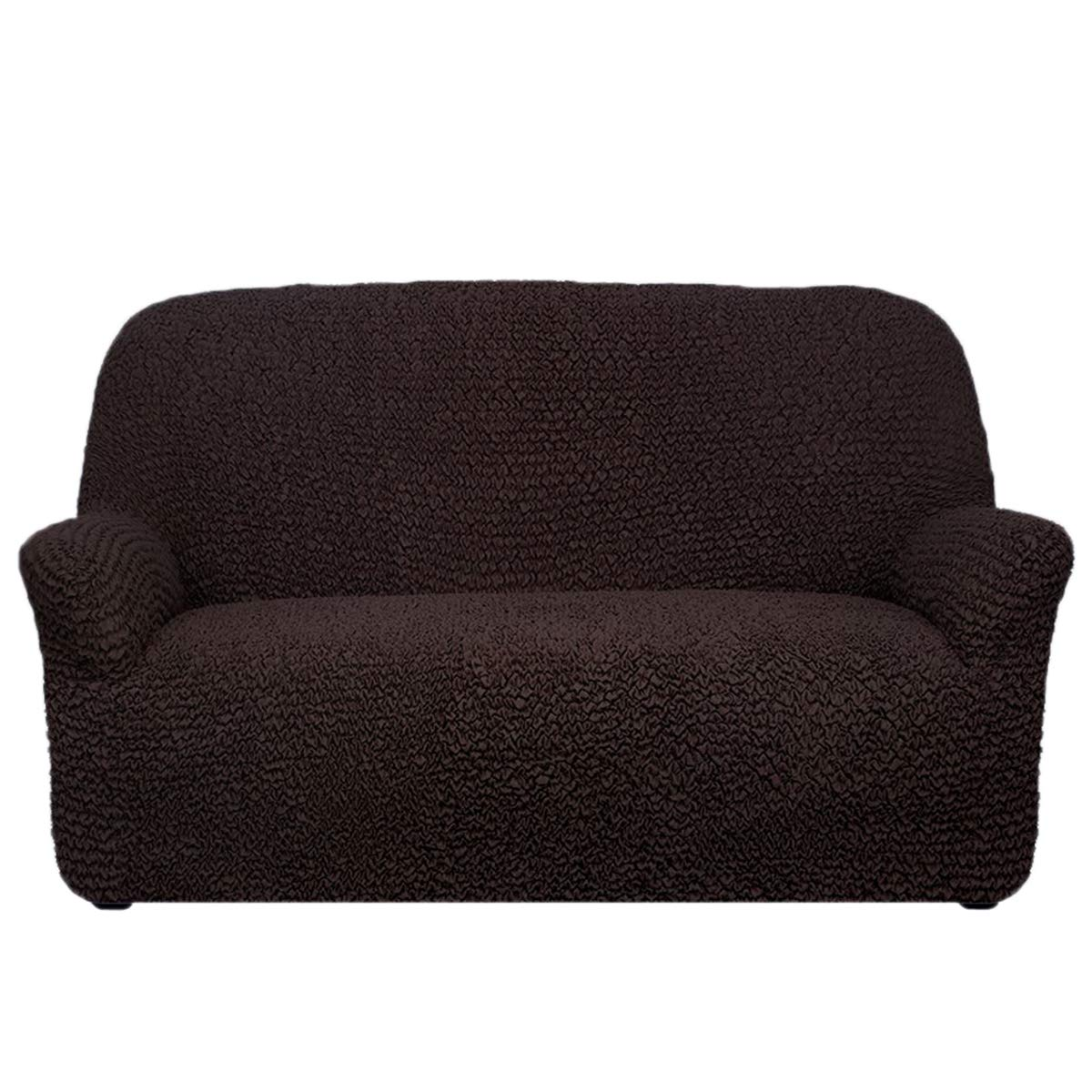 Mámma Mía Sofa Covers Stretch Furniture Slipcover Form Fit Stylish Furniture Protector Two-way Stretch Italian Fabric Microfibra Collection Premium Quality Made in Italy - Dark Chocolate (Loveseat)