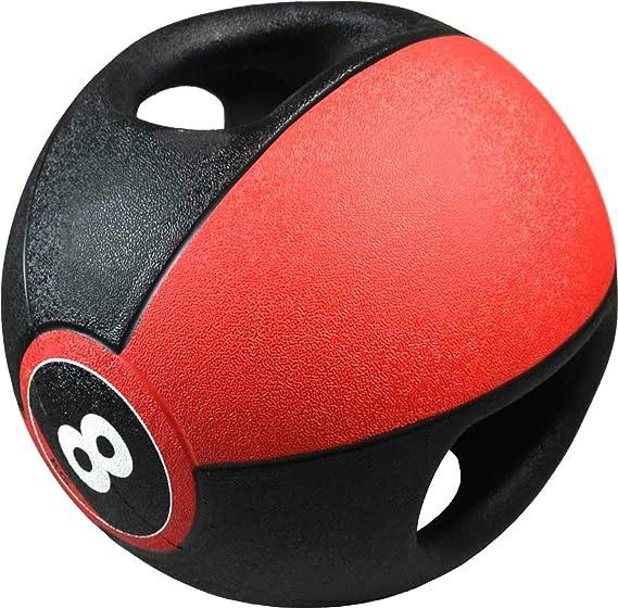 Pure2Improve Balón Medicinal con Asas Deportes Fitness Musculación ...