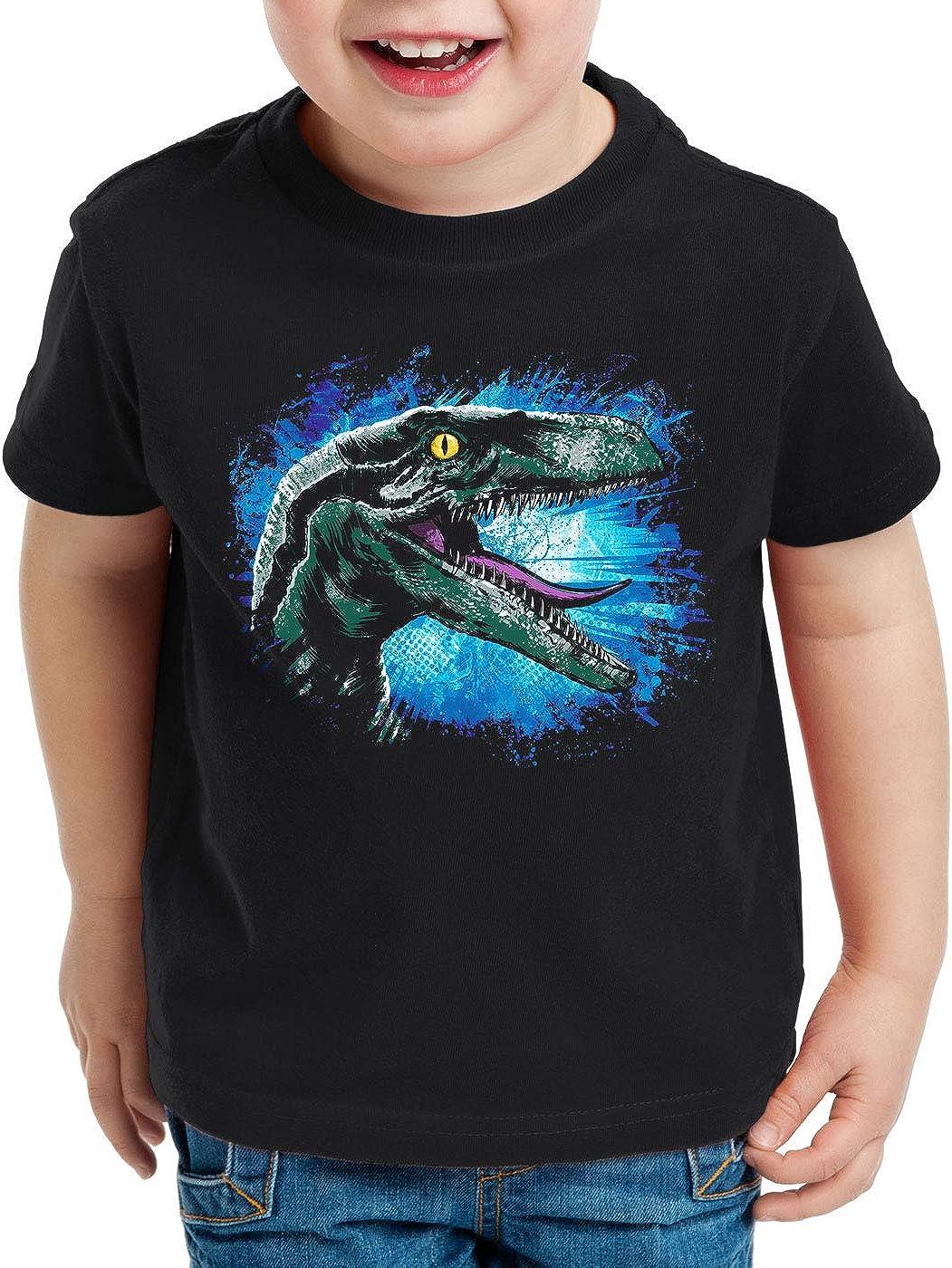 style3 Velociraptor Blue Camiseta para Niños T-Shirt Parque de ...