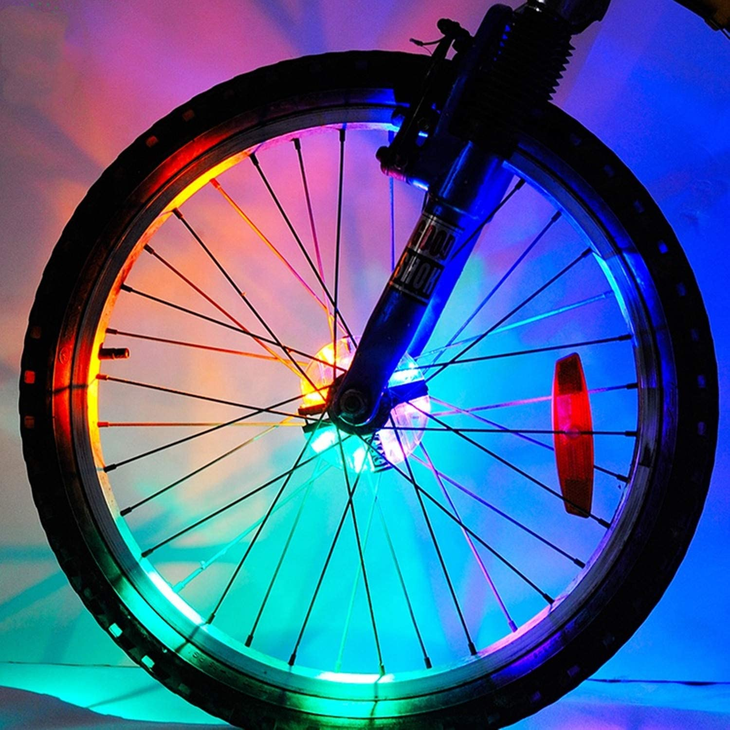 Meili USB Rechargeable Super Bright Bicycle Light Colorful Wheel Lights – Cool Led Kids Bicycle Spoke Lights,Waterproof Bike Tire Lights Great Gift for Fun 1 Tire Pack