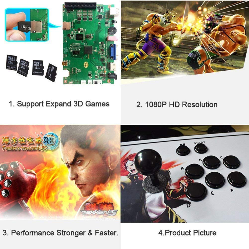 888Warehouse New! Pandora's Box 9S Arcade Console 1080P with 2070 Games in 1, Retro Video Games Double Stick Arcade Console, Supports HDMI and VGA Output for TV and PC by 888Warehouse (Image #3)