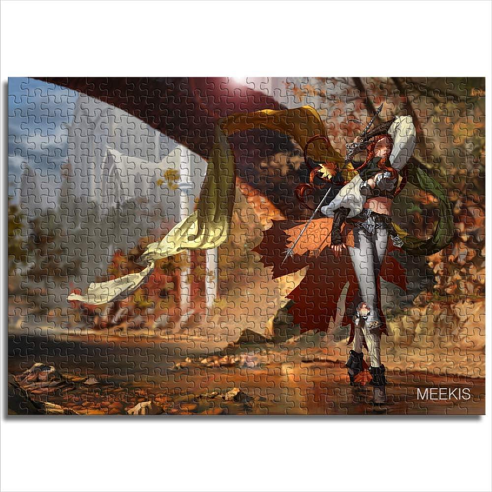 Juguetes de rompecabezas para adultos y niños Elfos de otoño La decoración del hogar se puede personalizar 1000 piezas de papel