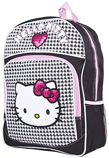 Image Unavailable. Image not available for. Color  Hello Kitty Backpack -  Black   White ... b02c6dc323