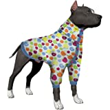 LovinPet Large Dog Onesie, Dog Pajamas Post Surgery Wear Pitbull Cotton Large Dog Shirt for