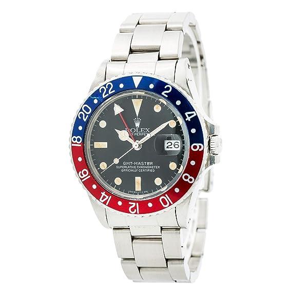 Rolex GMT Master swiss-automatic Mens Reloj 16750 (Certificado) de segunda mano