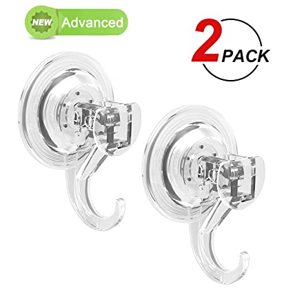 Beau LUXEAR Advanced Suction Cup Hooks, Powerful Suction Hooks (2 Pack) Heavy  Duty Vacuum