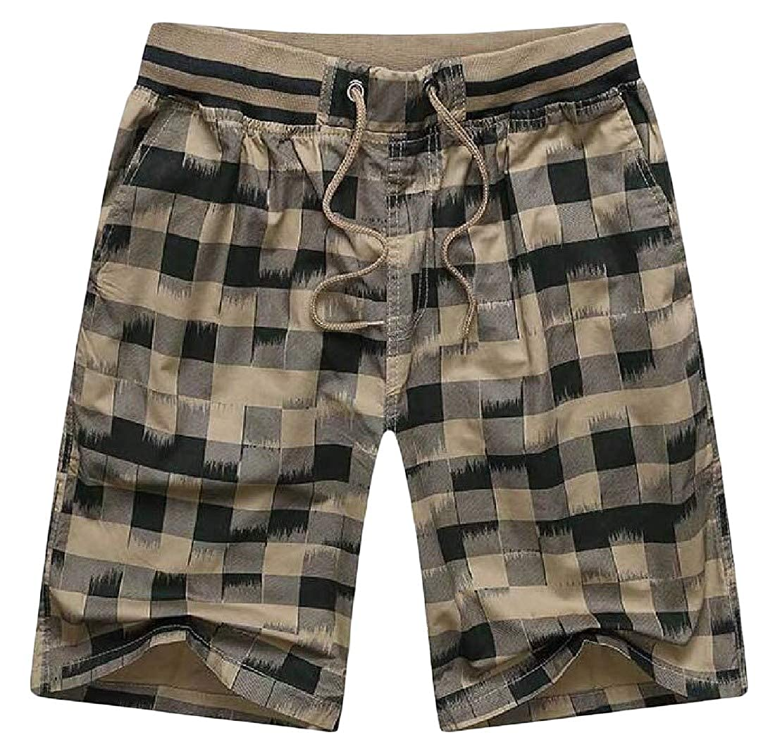 CMCYY Mens Plaid Beach Drawstring Loose Board Sport Surf Shorts