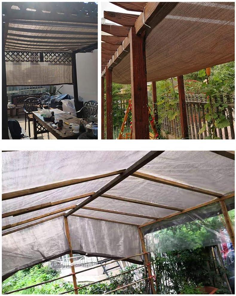 TOPYL Sol-Bloquear Vela De Sombra con Ojales, Toldo De Sombra Red para Plantas Invernadero Niños Perrera O Piscina, Toldo De Sombra Café 6x6m: Amazon.es: Jardín