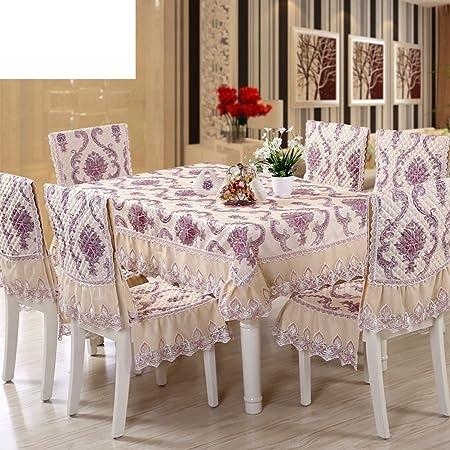 paño]/ mantel de jardín/Juego de sillas de comedor cojín/mantel/Cojín/ mantel/Set de cubre sillas manteles-K: Amazon.es: Hogar