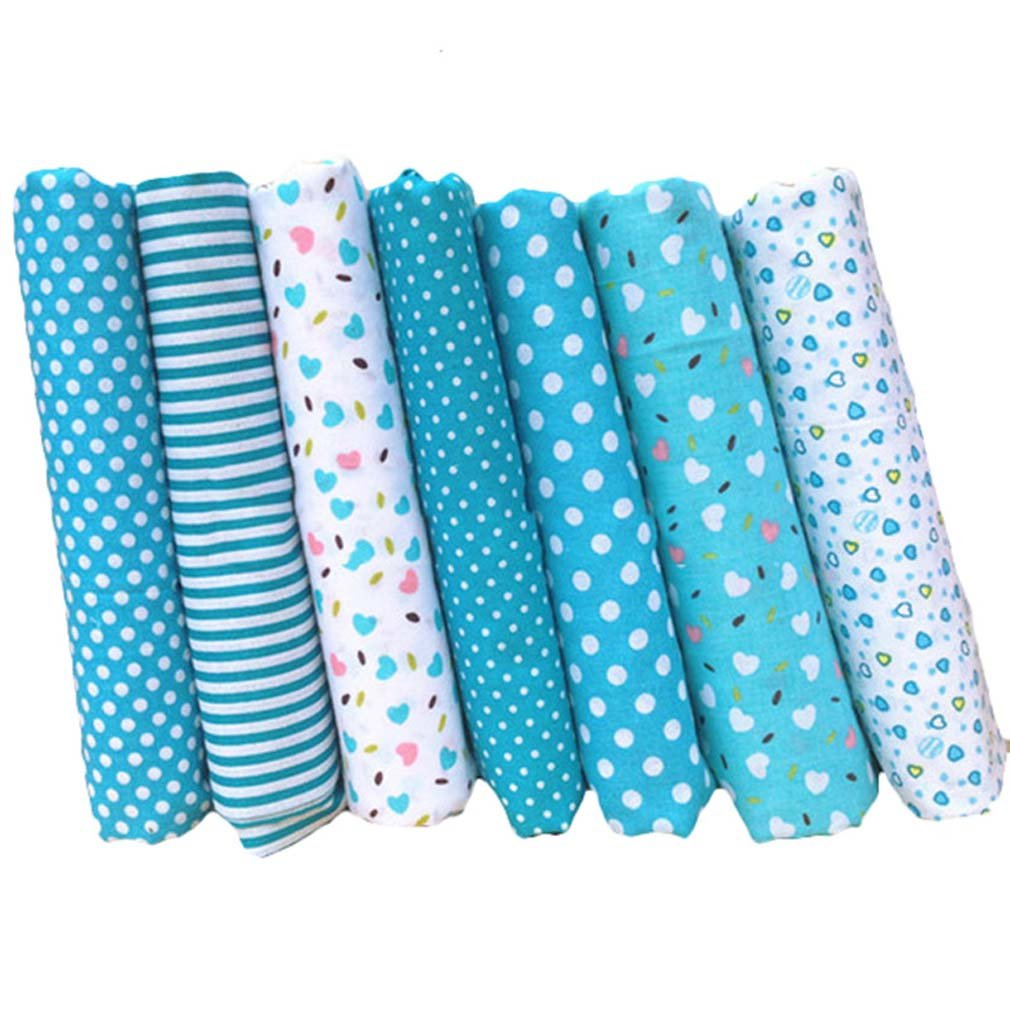 Souarts Assorted Colors Dot Fabric Bundles Quilting Sewing Patchwork Fabric Clothes DIY Craft 1set Hellocrafts