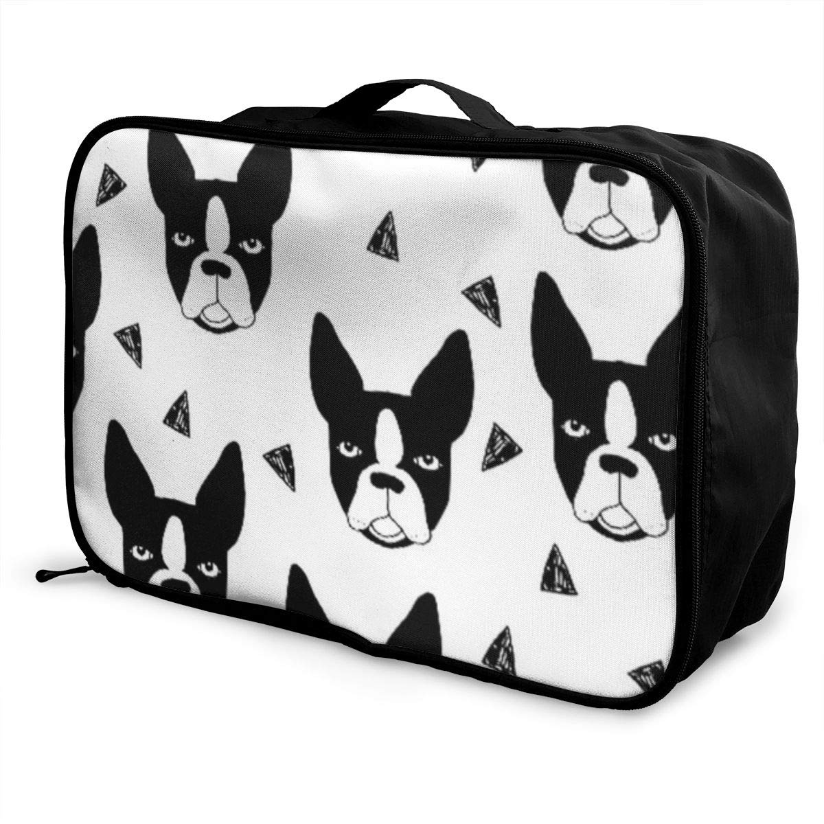 Boston Terrier Dog Travel Lightweight Waterproof Foldable Storage Portable Luggage Duffle Tote Bag Large Capacity In Trolley Handle Bags 6x11x15 Inch