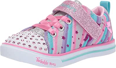 Skechers Kids Girls' Sparkle Lite-Magical Rainbows Sneaker
