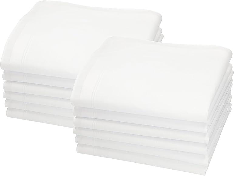 Betz Juego de pañuelos LEO 5 de tejido para caballeros 100% algodón 40x40 cm diseño 4 Color blanco 12 piezas: Amazon.es: Ropa y accesorios