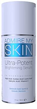 2% Hydroquinone Dark Spot Corrector Remover For Face & Melasma Treatment Fade Cream   Contains Vitamin C, Salicylic Acid, Kojic Acid, Azelaic Acid, Lactic Acid Peel (1oz) by Admire My Skin