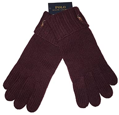Men's One Ralph Polo Wool Size At Gloves Wine Lauren 100Merino SUGzVMqp