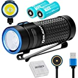 Olight S1R II 1000 Lumens High Performance CW LED Single IMR16340 Powered Upgraded Magnetic USB Rechargeable EDC Flashlight with Battery and SKYBEN Battery Case(Two Battery Pack)