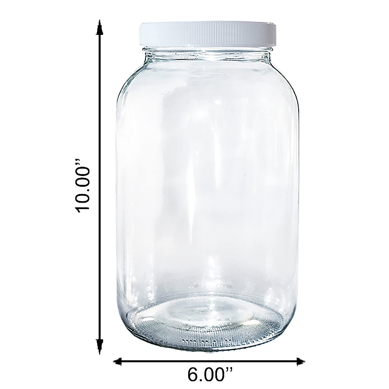 Amazon.com: (Paquete de 2) 1 galón tarro de vidrio ...