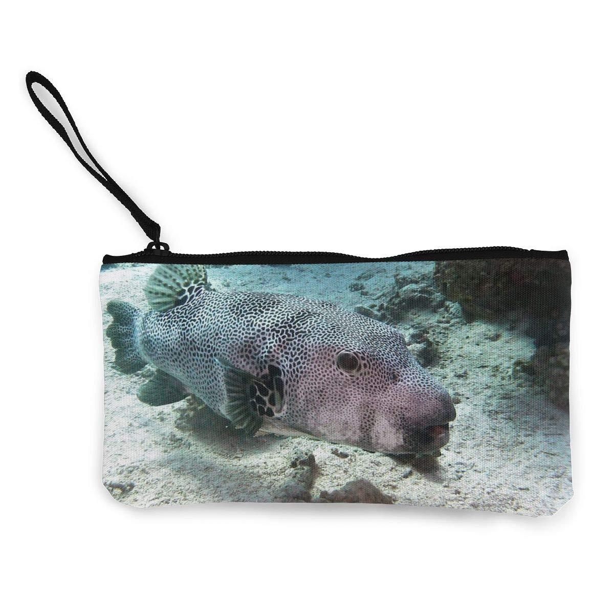 Pocket Handbag Fashion Print Coin Purse Makeup Bag Zip Canvas Purse Wallet