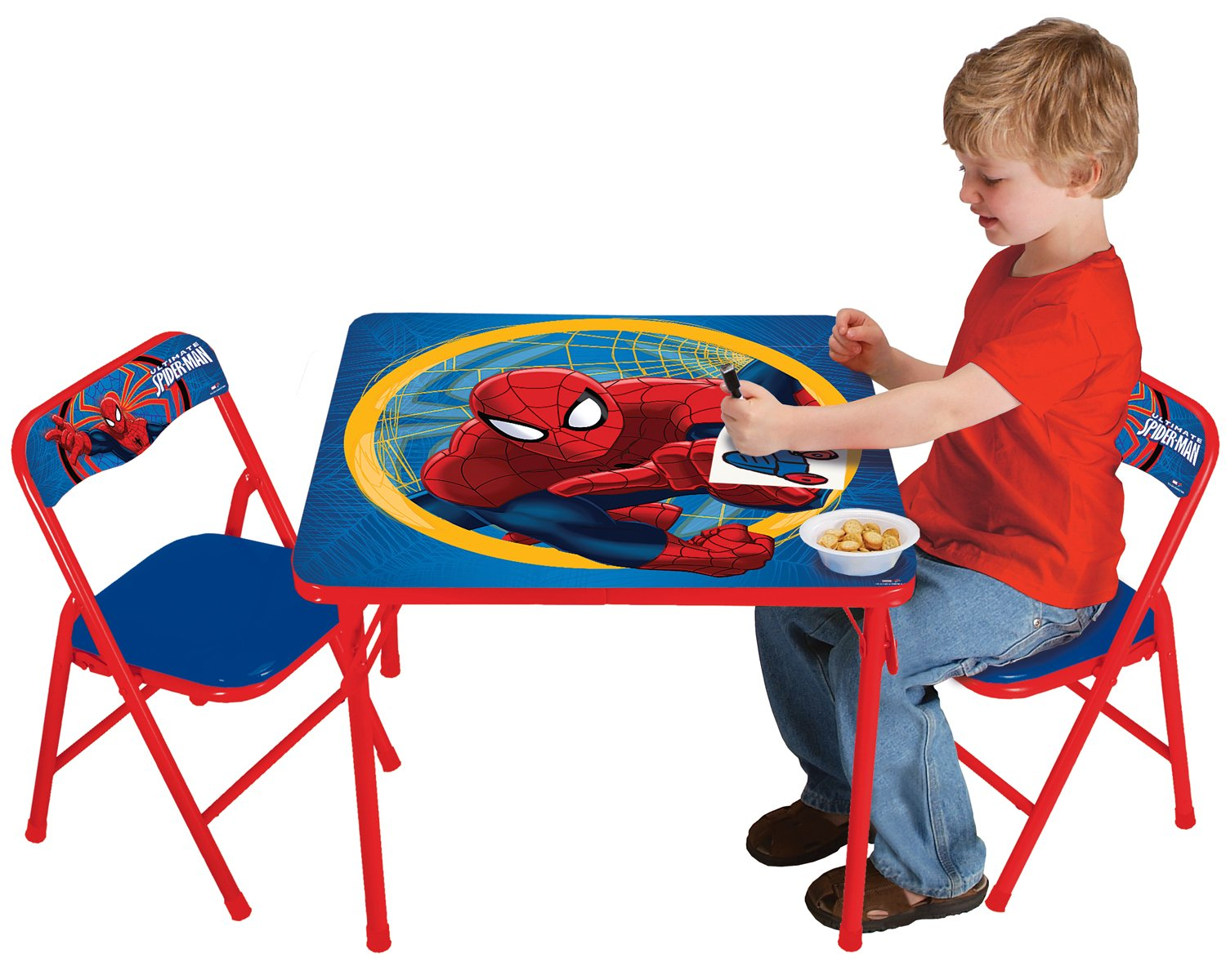 amazon com marvel spiderman activity table set toys u0026 games