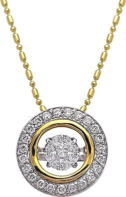 14k Two Tone Gold H-I SI2 Diamond kid pendant.