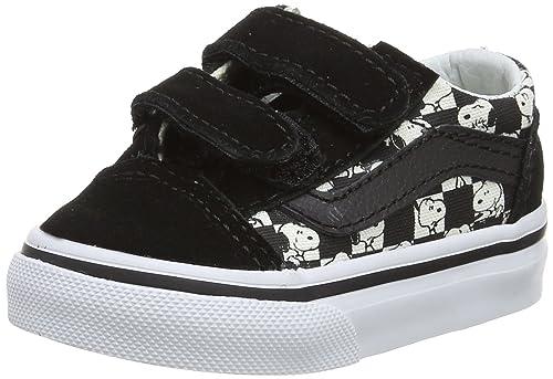 Vans Peanuts Old Skool V Sneaker UnisexBimbi Nero Scarpe
