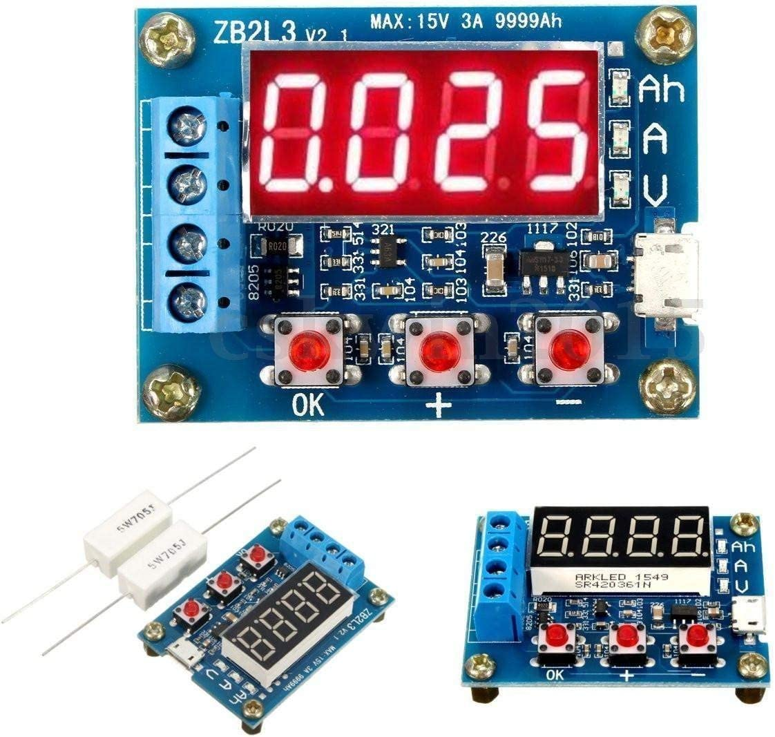 HiLetgo Battery Capacity Meter Discharge Tester Analyzer 1.5V-12V Battery Capacity Meter Discharge Tester