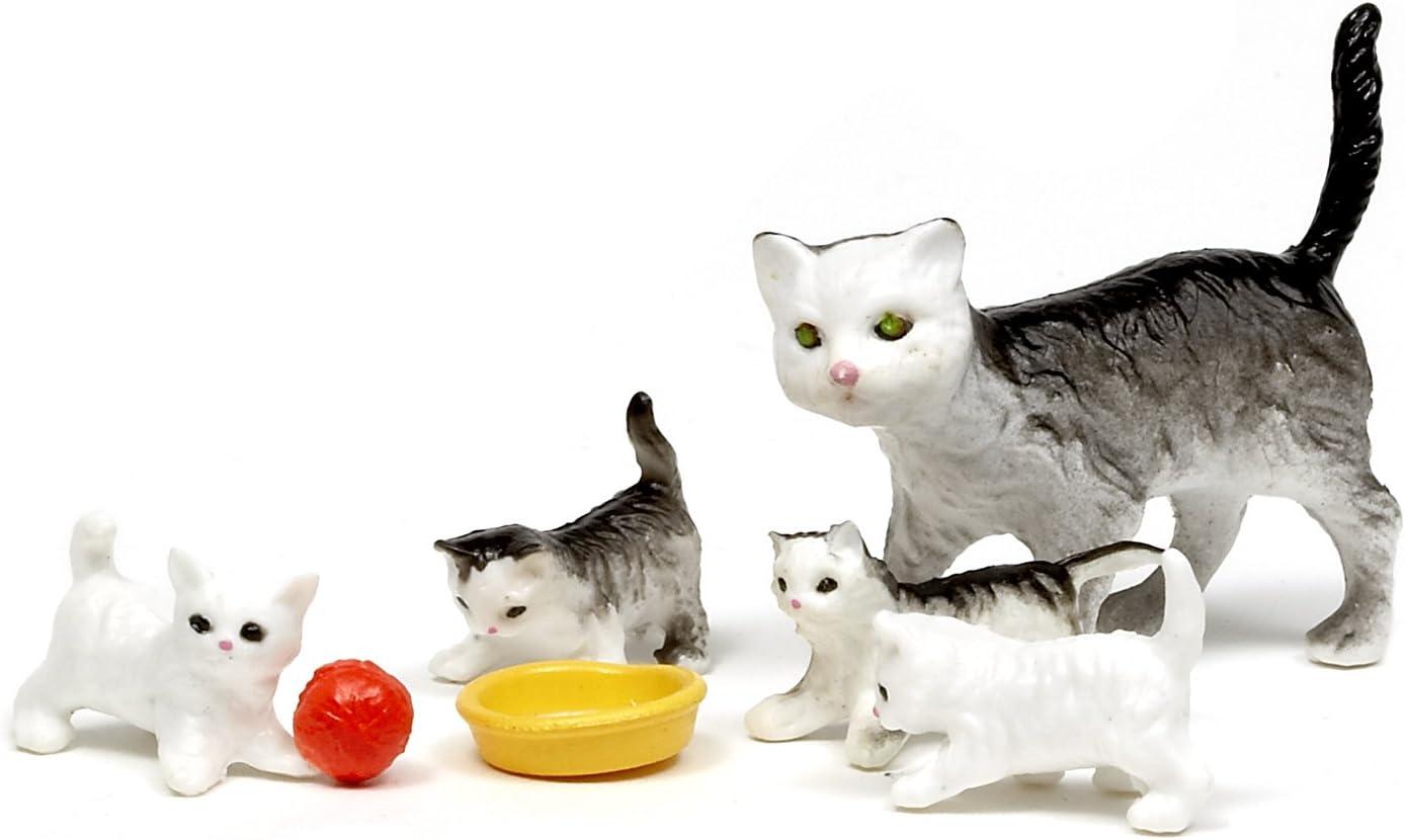 Amazon.es: Lundby Småland 60.8038.00 - Familia de Gatos Miniatura para casa de muñecas (Escala 1:18, 4 Unidades) [Importado de Alemania]: Juguetes y juegos