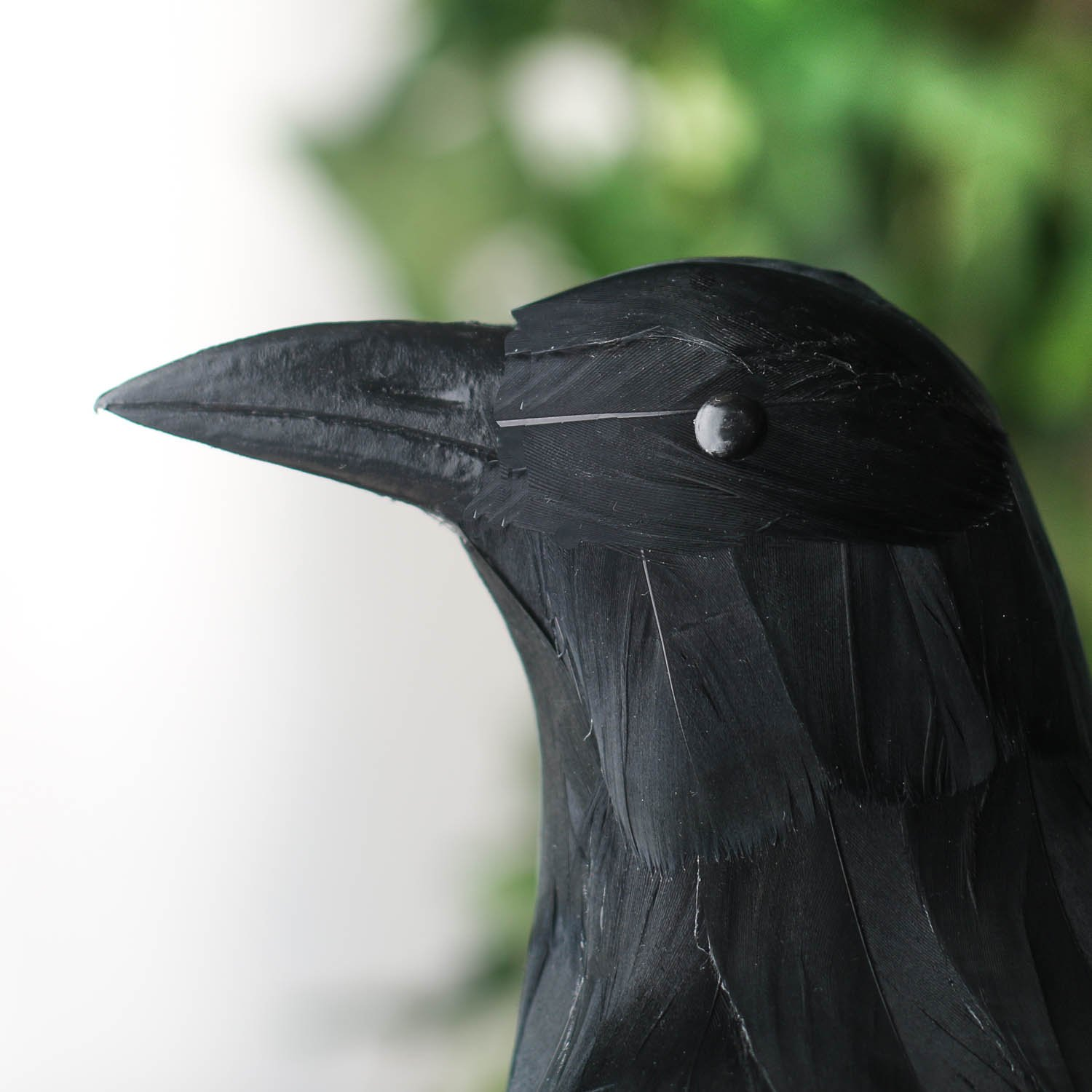 Black Feathered Large Halloween 13'' Artificial Crow; Very Realistic Looking! by Unknown (Image #2)