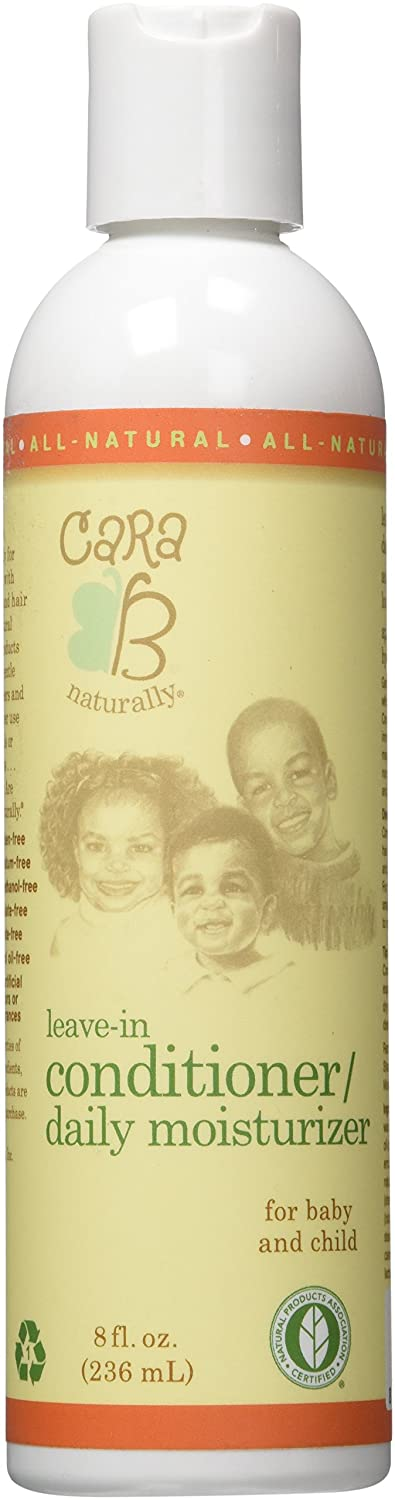 CARA B Naturally Leave-in Conditioner and Daily Moisturizer for Babies and Kids Textured, Curly Hair