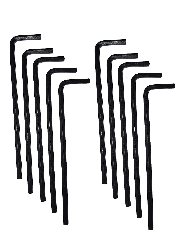 Pack of 10 Eklind 15214 7//32 Long Series Hex-L Key,
