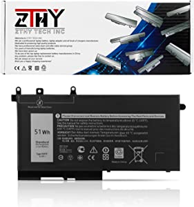 ZTHY 51Wh 93FTF Laptop Battery Compatible with Dell Precision 15 3520 3530 Latitude E5280 E5480 E5580 E5490 E5590 E5480 E5290 E5591 E5491 Series D4CMT 4YFVG 83XPC 083XPC 11.4V