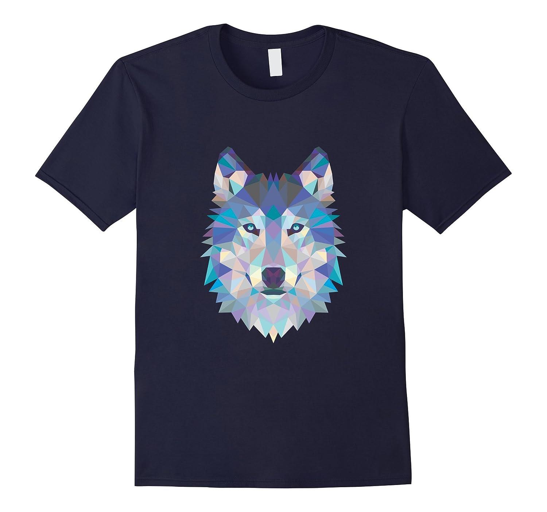 Geometric Wolf Tee-FL