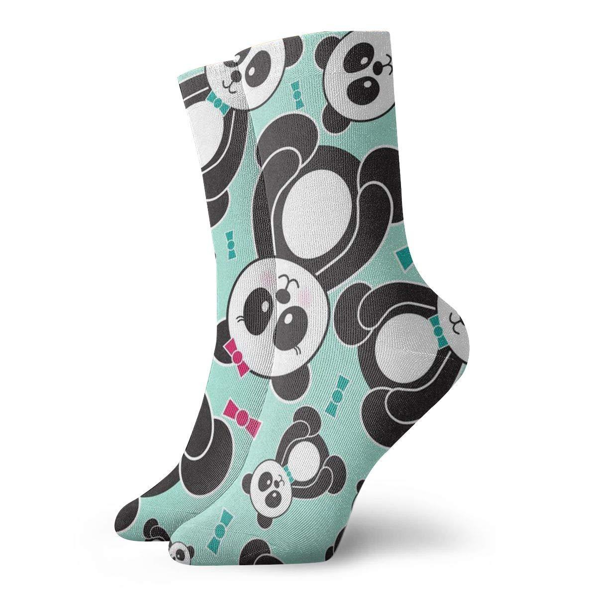Cute Panda Unisex Funny Casual Crew Socks Athletic Socks For Boys Girls Kids Teenagers