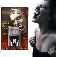 NATEE 4 stuks vampiertanden met kunstmatige bloedcapsules, vampiertanden tandprothees, Halloween-kostuum…